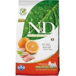FARMINA N&D GRAIN FREE Adult Mini Fish & Orange