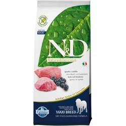 FARMINA N&D GRAIN FREE Adult Maxi Lamb & Blueberry