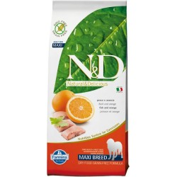 FARMINA N&D GRAIN FREE Adult Maxi Fish & Orange