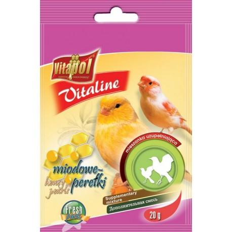 VITAPOL Vitaline tranowe perełki dla kanarka 20g