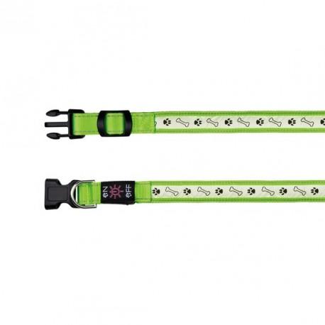 TRIXIE Obroża świecąca USB zielona