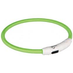TRIXIE Obroża świecąca USB okrągła zielona