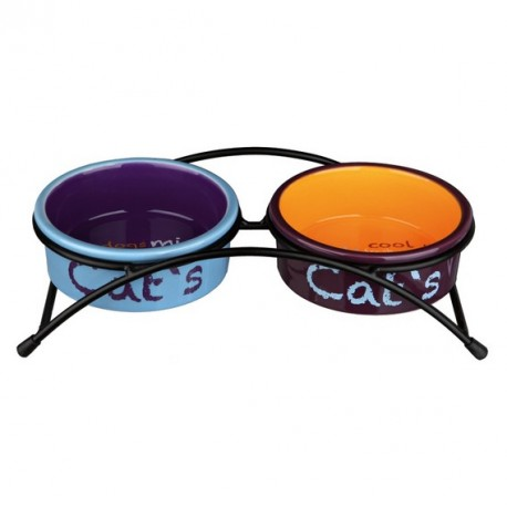 TRIXIE Miska ceramiczna podwójna dla kota