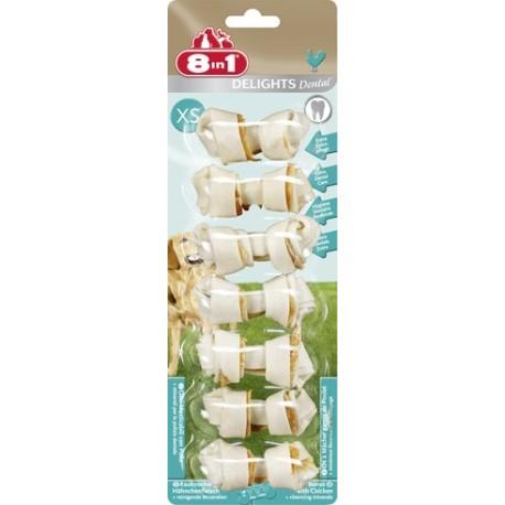 8in1 Dental Delights Bone Kostki XS przysmak dla psa