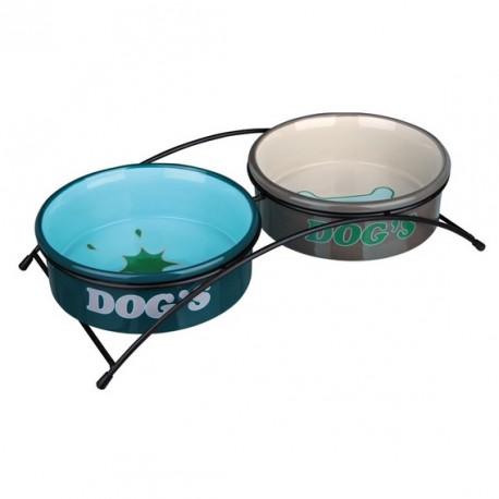 TRIXIE Zestaw misek na stojaku Dog's