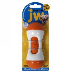 JW PET Evertuff Squeaky Barbell