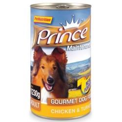 PRINCE DOG Gourmet Kurczak z indykiem 1230g puszka
