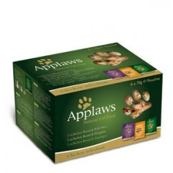 APPLAWS CAT Filety Chicken Selection 6x70g saszetka ZESTAW
