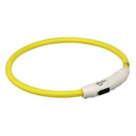 TRIXIE Obroża świecąca USB okrągła żółta