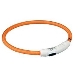 TRIXIE Obroża świecąca USB okrągła pomarańczowa