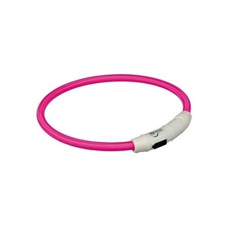TRIXIE Obroża świecąca USB okrągła różowa