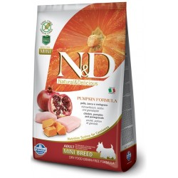 FARMINA N&D GRAIN FREE Pumpkin Adult Mini Chicken & Pomegranate