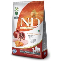 FARMINA N&D GRAIN FREE Pumpkin Adult Medium/Maxi Chicken & Pomegranate