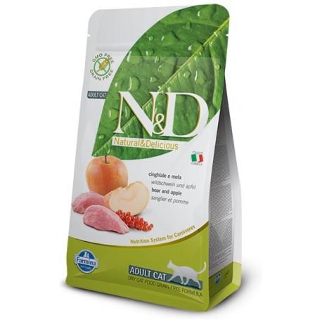 FARMINA N&D GRAIN FREE Adult Cat Boar & Apple