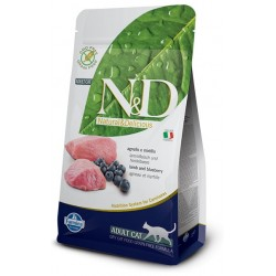 FARMINA N&D GRAIN FREE Adult Cat Lamb & Blueberry