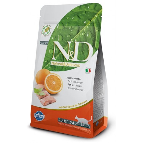 FARMINA N&D GRAIN FREE Adult Cat Fish & Orange
