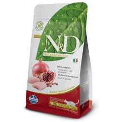 FARMINA N&D GRAIN FREE Adult Cat Chicken & Pomegranate Neutered