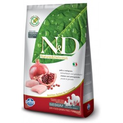 FARMINA N&D GRAIN FREE Adult Medium Chicken & Pomegranate