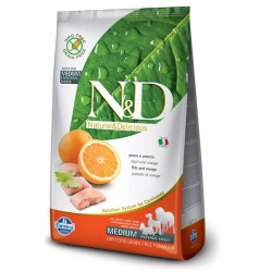FARMINA N&D GRAIN FREE Adult Medium Fish & Orange