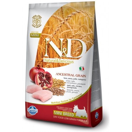 FARMINA N&D LOW GRAIN Adult Mini Chicken & Pomegranate