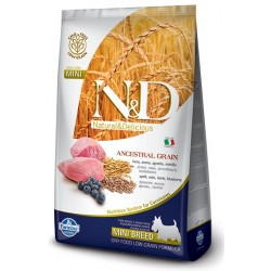 FARMINA N&D LOW GRAIN Adult Mini Lamb & Blueberry
