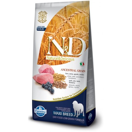 FARMINA N&D LOW GRAIN Adult Maxi Lamb & Blueberry 12kg
