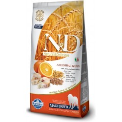 FARMINA N&D LOW GRAIN Adult Maxi Fish & Orange 12kg