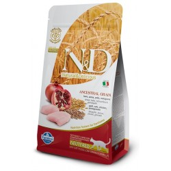 FARMINA N&D LOW GRAIN Adult Cat Chicken & Pomegranate Neutered