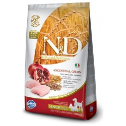 FARMINA N&D LOW GRAIN Senior Mini/Medium Chicken & Pomegranate