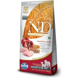 FARMINA N&D LOW GRAIN Senior Medium/Maxi Chicken & Pomegranate 12kg