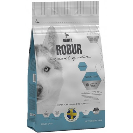 BOZITA DOG Robur Sensitive Adult Grain Free Reindeer