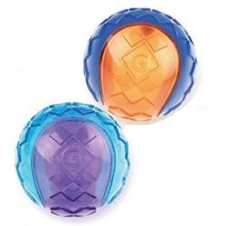 GIGWI Push to mute Sowa niebiesko-pomarańczowa