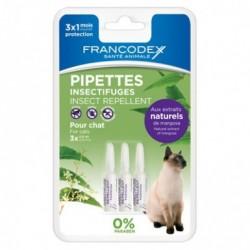 FRANCODEX Krople odstraszające insekty dla kociąt 3x0,6ml