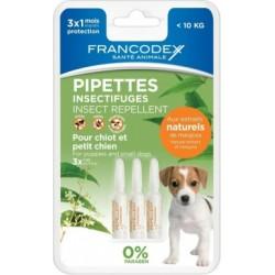 FRANCODEX Krople odstraszające insekty dla psów 3 pipety