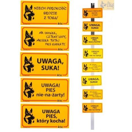 DINGO Tabliczka ostrzegawcza metalowa 10x21cm