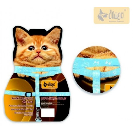DINGO KOT FUN CAT Szelki pastelowe
