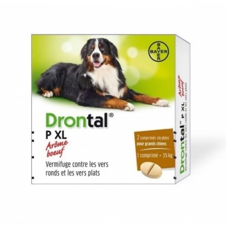 BAYER DRONTAL DOG Plus Flavour +35kg 2szt