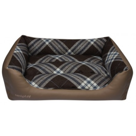 AMIPLAY Kent Legowisko sofa Bordowa