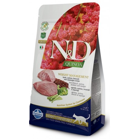 FARMINA N&D GRAIN FREE Cat Quinoa Digestion Lamb & Fennel