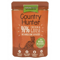 NATURES MENU CAT Country Hunter 96% kurczak gęś 85g