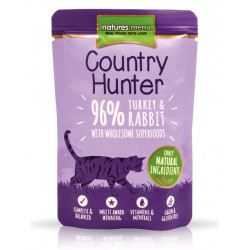 NATURES MENU CAT Country Hunter 96% indyk królik 85g
