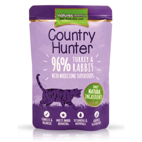 NATURES MENU CAT Country Hunter indyk królik