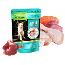 NATURES MENU CAT Adult Kurczak łosoś tuńczyk saszetka 100g