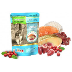 NATURES MENU CAT Senior kurczak dorsz saszetka 100g