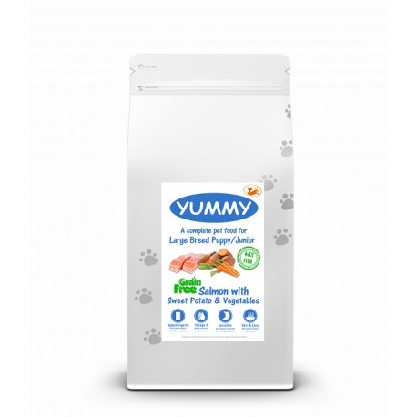 YUMMY Grain Free Dog Puppy Large Breed Salmon, Sweet Potato & Vegetables
