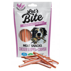 BRIT Let's Bite Meat Snacks Chicken Stripes with Codfish 80g