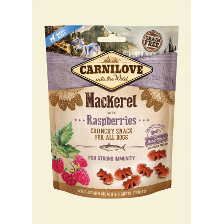 CARNILOVE Crunchy Snack Mackerel With Raspberries