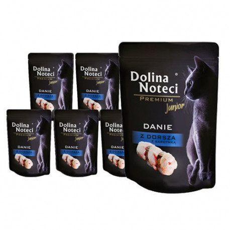 DOLINA NOTECI CAT Premium Junior Danie z dorsza 85g