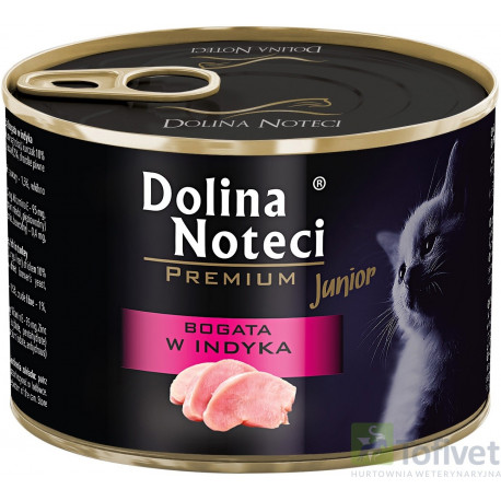 DOLINA NOTECI CAT Premium Junior bogata w indyka 185g