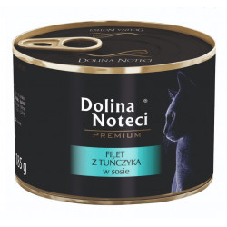 DOLINA NOTECI CAT Premium Filet z tuńczyka w sosie 185g